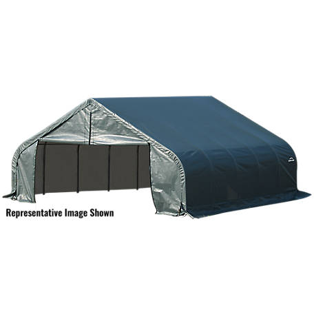 ShelterLogic Peak Style Shelter, Green, 22 ft. x 24 ft. x 12 ft.