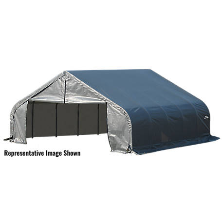 ShelterLogic Peak Style Shelter, Gray, 22 ft. x 28 ft. x 12 ft.