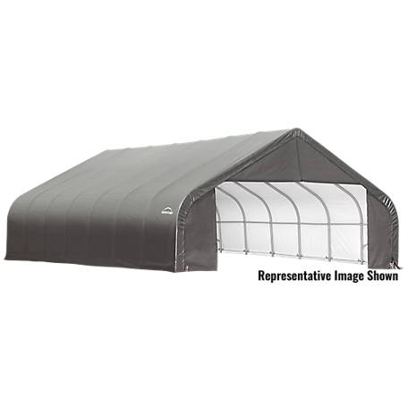 ShelterLogic Peak Style Shelter, Green, 30 ft. x 24 ft. x 16 ft.