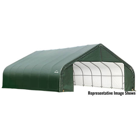ShelterLogic Peak Style Shelter, Green, 30 ft. x 28 ft. x 16 ft.