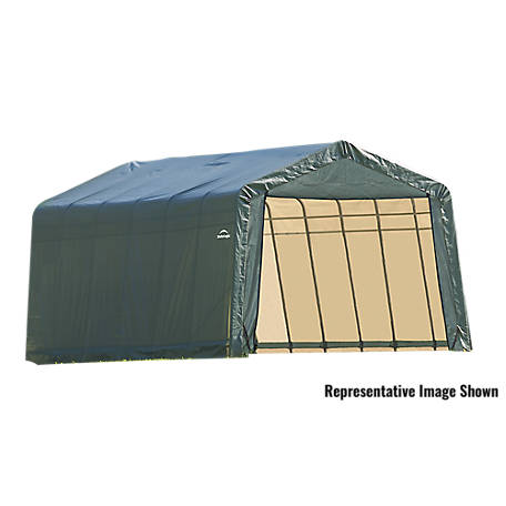 ShelterLogic 13 x 28 x 10 ft. Green Peak Shelter, 90244