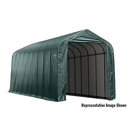 ShelterLogic 15 x 44 x 16 ft. Green Peak Shelter, 95944