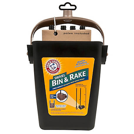 Arm & Hammer Swivel Bin & Rake