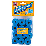Arm & Hammer Disposable Waste Bag Refills, Blue, Pack of 180