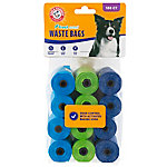 Arm & Hammer Disposable Waste Bag Refills, Tri-Color, Pack of 180