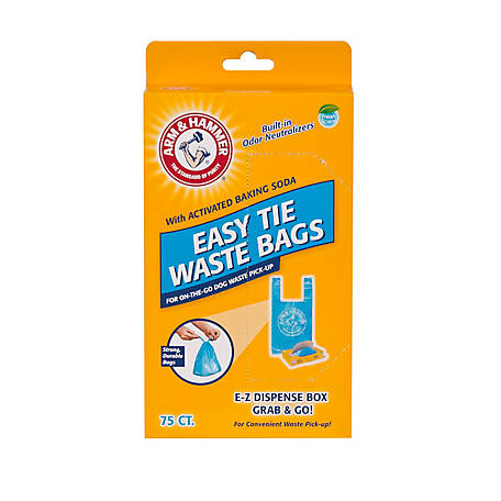 Arm & Hammer Fresh Scent Easy Tie Waste Bags, Pack of 75