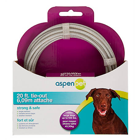 Aspen Pet Containment Tieout, Large, 20 ft.