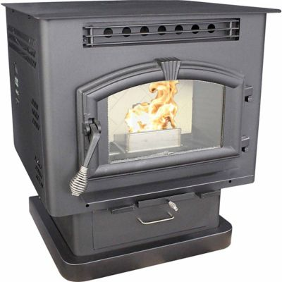 United States Stove Pedestal Model Stove with Corn/Pellet Burner - For Life  Out Here - United States Stove Pedestal Model Stove With Corn/Pellet Burner
