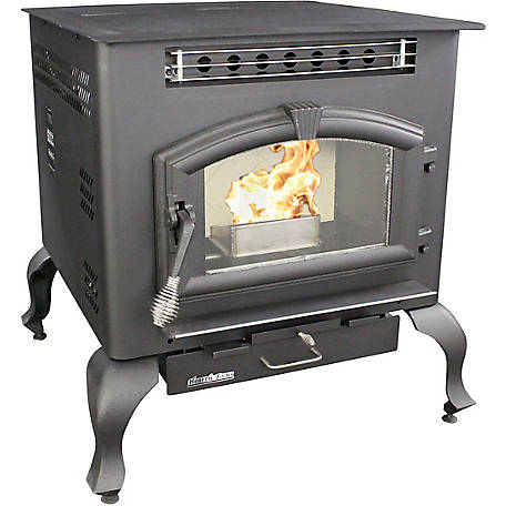 US Stove Pellet Stove, 2,200 sq. ft. Multifuel Stove on Legs, 6041HF