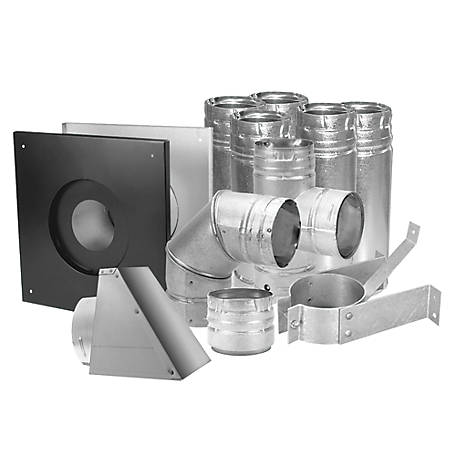 DuraVent 4 in. Pellet Vent Kit, Stainless