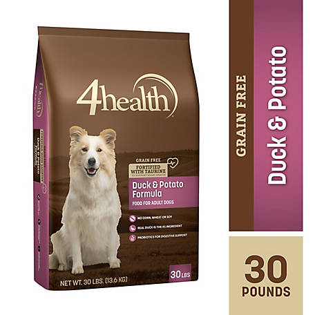 4health Grain Free Duck & Potato Formula Dog Food, 30 lb. Bag
