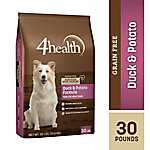 4health Grain-Free Duck & Potato Formula Dog Food, 30 lb. Bag