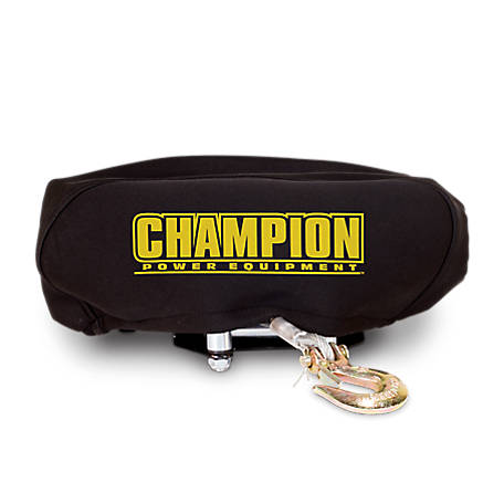 Champion Power Equipment Weather-Resistant Neoprene Storage Cover for Winches 4,000-5,000 lb., 18032