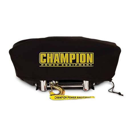 Champion Power Equipment Weather-Resistant Neoprene Storage Cover for Winches with Speed Mount Hitch Adapter, 18034