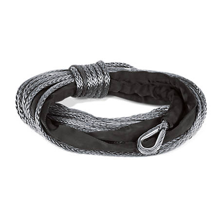 Champion Power Equipment 85 ft. Gray Dyneema Synthetic Winch Rope for 8,000-12,000-lb. Truck/SUV Winches, 18040