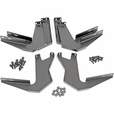 Dee Zee NXc Running Board Brackets, 8 in. dia. x 21 in., Texture Black