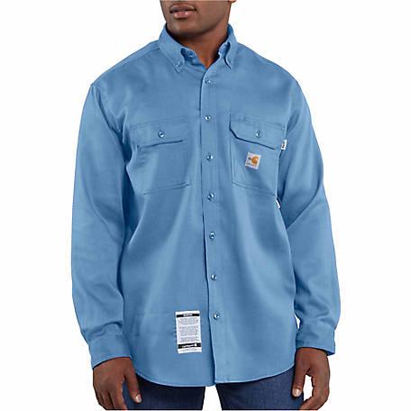 aa076d6f488fc Carhartt Men s Flame Resistant Work Dry Light Weight Twill Shirt