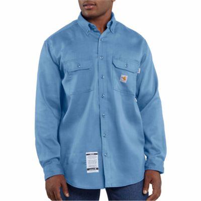 939ef0b5cc54 Carhartt Men s Flame Resistant Work Dry Light Weight Twill Shirt