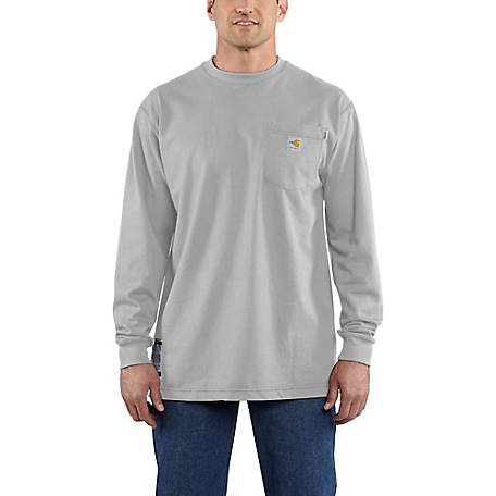 856385ef5284 Carhartt Men's Flame-Resistant Force Cotton Long Sleeve T-Shirt