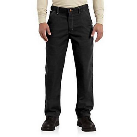 Carhartt Men's Flame Resistant Washed Duck Dungaree Pants