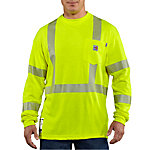 Carhartt Men's Flame-Resistant High-Visibility Long Sleeve T-Shirt