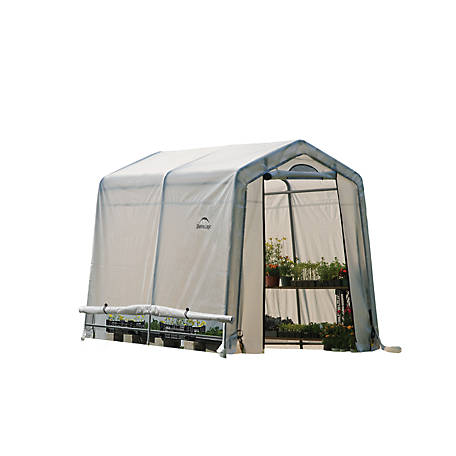 ShelterLogic GrowIT Greenhouse-In-A-Box EasyFlow Greenhouse, Peak-Style, 6 ft. x 8 ft. x 6 ft.