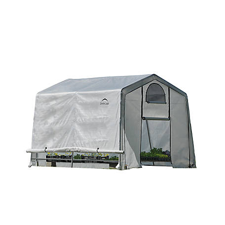 ShelterLogic GrowIT Greenhouse-In-A-Box EasyFlow Greenhouse, Peak-Style, 10 ft. x 10 ft. x 8 ft.