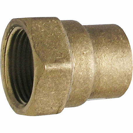 LDR 3/4 in. Sweat Female Adapter, Brass, Lead Free