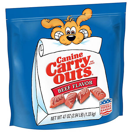 Canine Carry Outss Beef Flavor Dog Snacks, 50 oz.