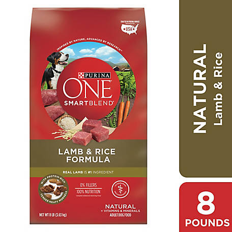 Purina ONE Natural Dry Dog Food, SmartBlend Lamb & Rice Formula, 8 lb. Bag