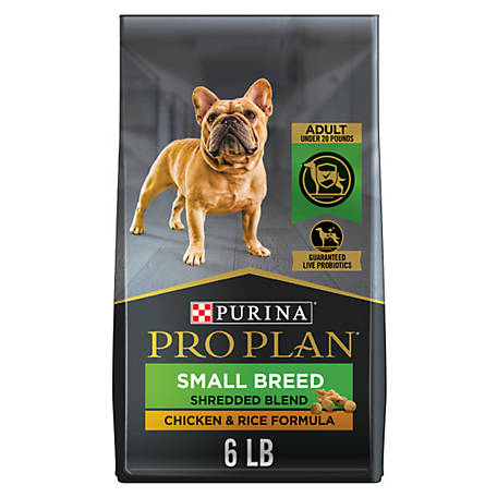 Purina Pro Plan with Probiotics Small Breed Dry Dog Food, SAVOR Shredded  Blend Chicken & Rice Formula, 6 lb  Bag, at Tractor Supply Co