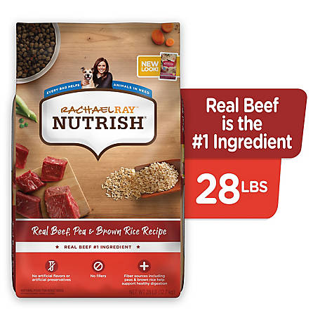 Rachael Ray Nutrish Real Beef & Brown Rice Recipe Dog Food, 28 lb.
