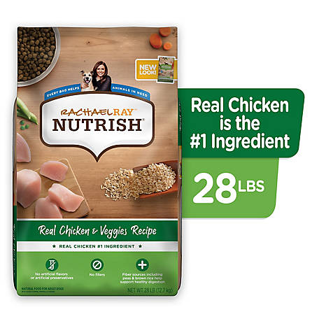 Rachael Ray Nutrish Natural Chicken & Veggies Recipe Dog Food, 28 lb.