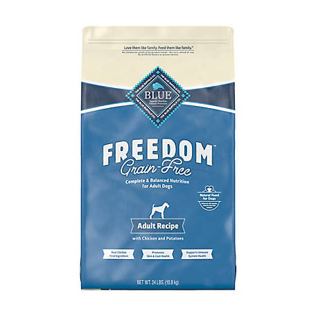 Blue Freedom Grain-Free Chicken Recipe Adult Dog Food, 24 lb.