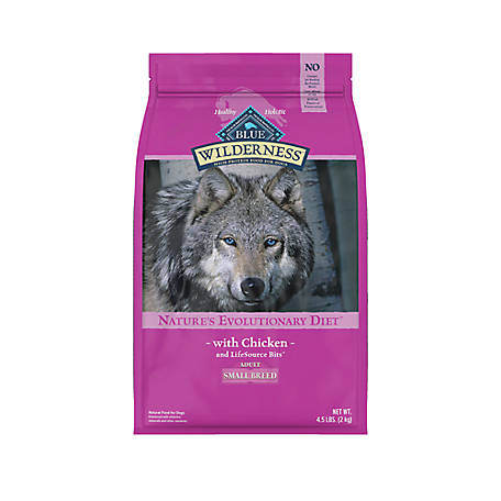 Blue Buffalo Wilderness Chicken Recipe Dry Dog Food For Small Breed Adult Dogs, 4.5 lb. Bag