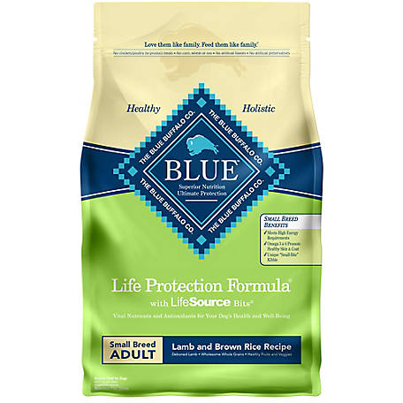 Blue Buffalo Life Protection Formula Lamb & Brown Rice Recipe Dry Dog FoodFor Small Breed Adult Dogs, 6 lb.