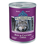 Blue Buffalo Blue Wilderness Beef & Chicken Grill For Adult Dogs, 12.5 oz. Can