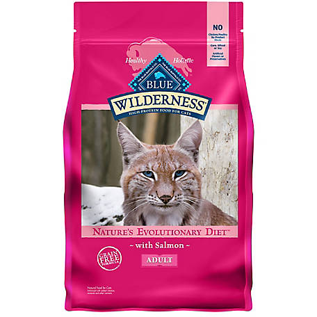 Blue Wilderness Salmon Recipe For Adult Cats, 5 lb.