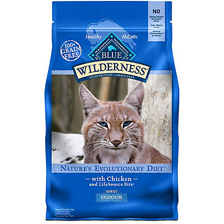Blue Buffalo Wilderness Indoor Chicken Recipe Cat Food For Adult Cats, 5 lb.