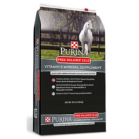 Purina Free Balance 12:12 Horse Supplement, 25 lb.