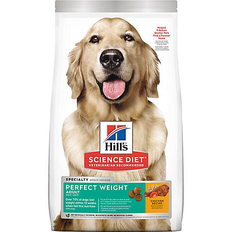 Hill's Science Diet Adult Perfect Weight Chicken Recipe Dog Food, 15 lb. Bag