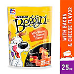 Purina Beggin' Strips Made in USA Facilities Dog Training Treats,  Bacon & Cheese Flavors, 25 oz. Pouch