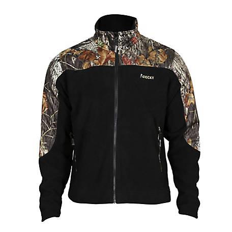 Rocky Men's Fleece Zip Jacket with Camo Accents