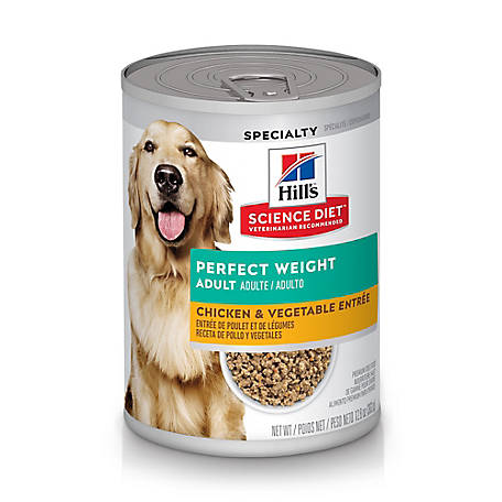 Hill's Science Diet Adult Perfect Weight Chicken & Vegetable Entree Dog Food, 12.8 oz. Can