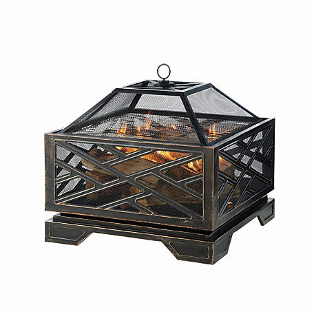Pleasant Hearth Extra-Deep 26 in. Martin Wood Burning Fire Pit