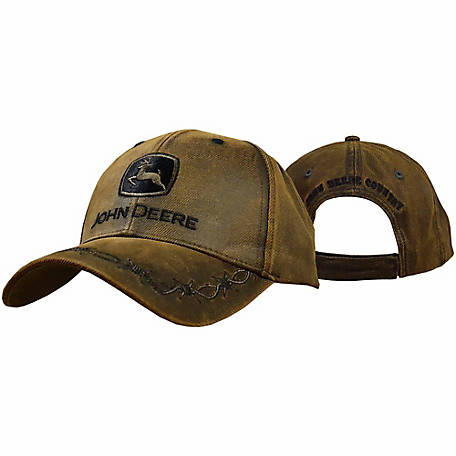 John Deere 100% Cotton Brown Oil Skin Cap