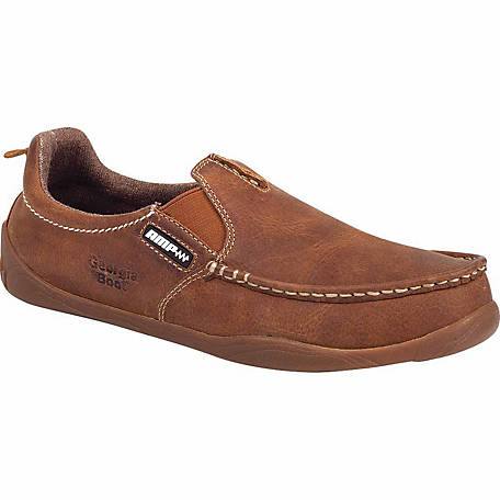 Georgia Boot Men's Cedar Falls Moc-Toe Slip-On Shoe