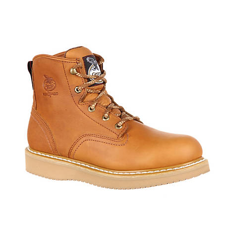 dependable performance various design big selection Georgia Boot Men's 6 in. Barracuda Gold Wedge Steel Toe Work Boot at  Tractor Supply Co.