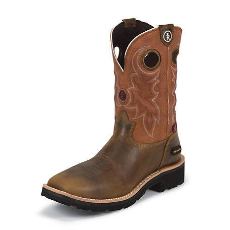 Tony Lama Men's 11 in. Waterproof Composition Toe 3R Collection Boot