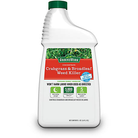 GroundWork Crabgrass & Broadleaf Weed Killer Concentrate, 32 oz., 7611277